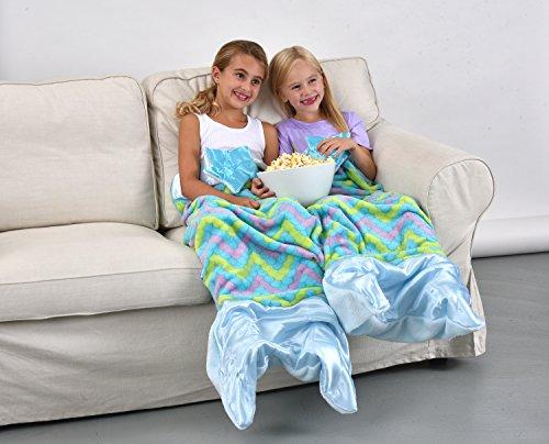 Snuggie Tails Mermaid Blanket For Kids (Blue)