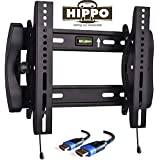 """HIPPO TV Wall Mount Tilting Bracket for Most 15"""" 17"""" 19"""" 20"""" 22"""" 23"""" LED LCD Plasma Flat Screen TVs up to 100 Lbs VESA up to 300x300 Security Lock 5 ft HDMI Cable"""