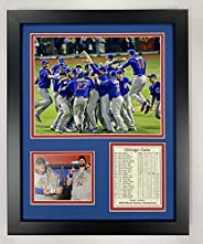 """Chicago Cubs 2016 World Series Champs Celebration Collectible   Framed Photo Collage Wall Art Decor - 12"""""""