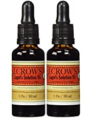 J.CROW'S Lugol's Iodine Solution 5% (1 oz.) Twin Pack (2 bottles)