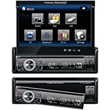 Power Acoustik PTID-8920 Single-DIN 7 Flip-Out Touchscreen Car Stereo DVD CD Car Accessories