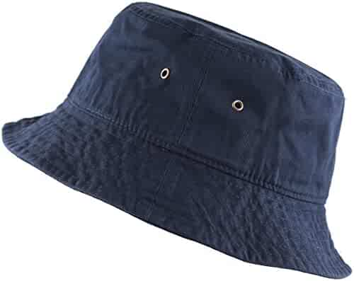 THE HAT DEPOT 300N Unisex 100% Cotton Packable Summer Travel Bucket Hat