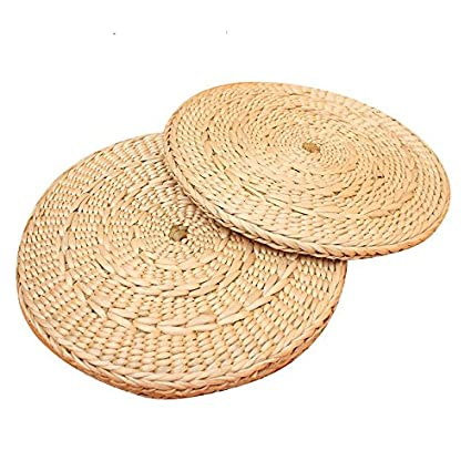 Amazon.com: Japanese Handmade Straw Tatami Yoga Cushion ...