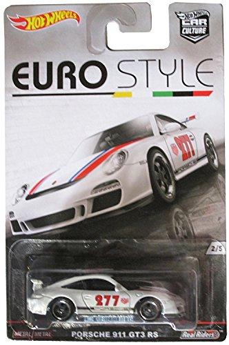 Porsche 911 GT3 RS Hot Wheels Euro Style Series White Porsche 911 GT3 RS 1:64 Scale Collectible Die Cast Metal Toy Car Model 2/5