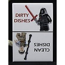 CLEAN / DIRTY Star Wars LEGOs - Dishwasher Magnet. Kylo Ren Rey LEGO MiniFigure