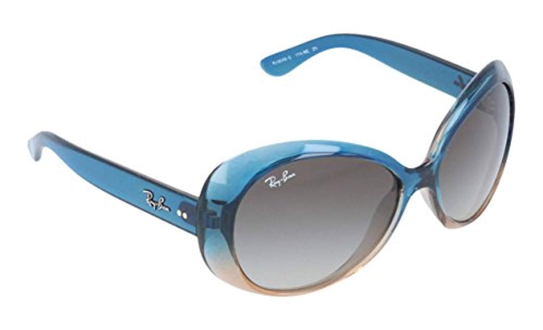 Ray Ban Junior RJ9048S Sunglasses-174/8E Turq/Brown (Green Grad Lens)-52mm