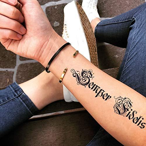 Semper Fidelis Temporary Fake Tattoo Sticker (Set of 2) - -