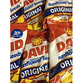 David Seed SunFlower Seeds, Original, 0.9 Ounce, 36 pack 3 David Original Sunflower Seeds are roasted in the shell, giving you the robust, salty flavor that started it all David Sunflower Seeds are perfect when you need to maintain your focus, or to kick back to take a break from the day Each serving of David Sunflower Seeds are a natural and nutritious snack, providing a good source of vitamin E