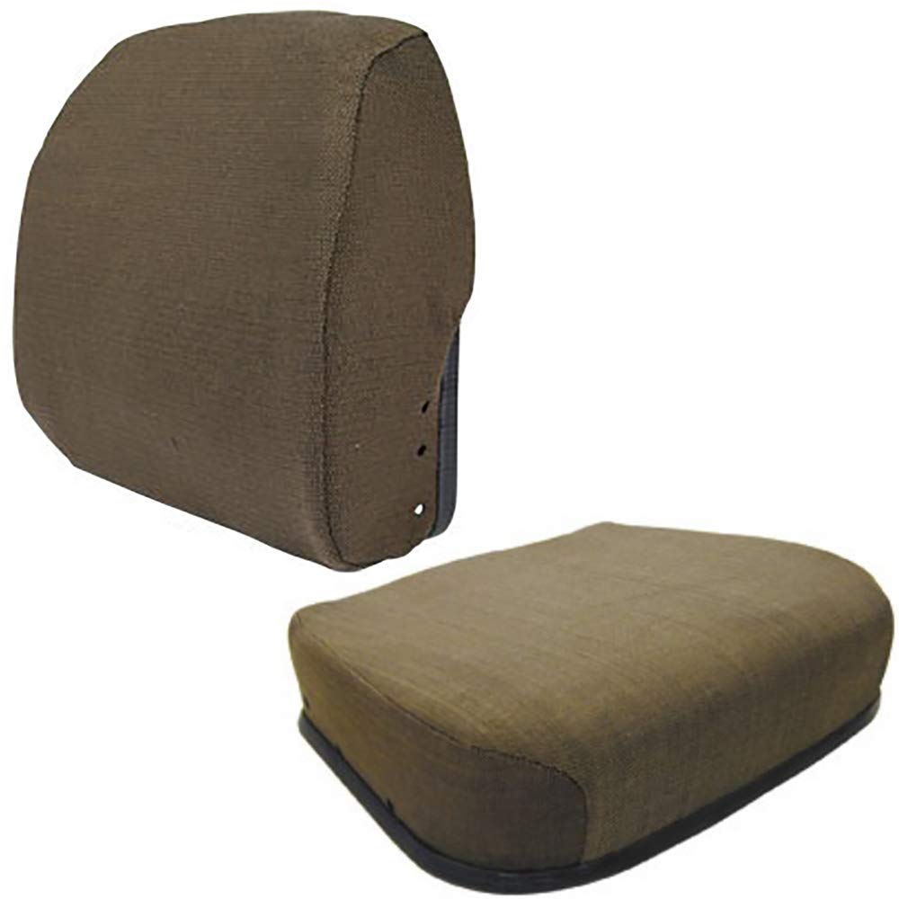 One (1) Seat Back and Bottom Cushion Set for John Deere Tractors by RAPartsinc