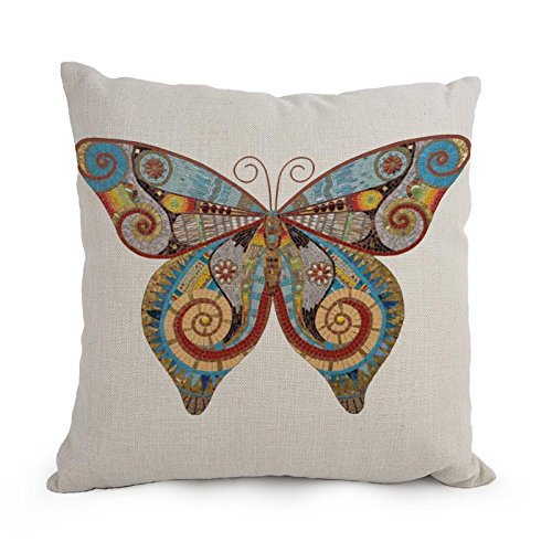 loveloveu pillowcover of Butterfly 18 x 18 inches / 45 by 45 cm, best fit for bar seat, office, play room, teens boys, floor, gf 2 sides