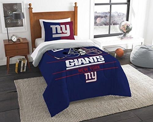 Northwest New York Giants Twin Comforter Set, Blue, 64