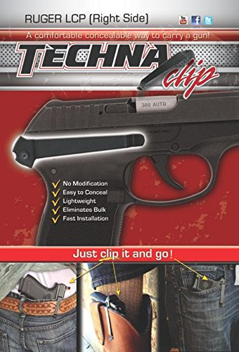 Techna Clip   Ruger Lcp 380   Conceal Carry Belt Clip  Right Side