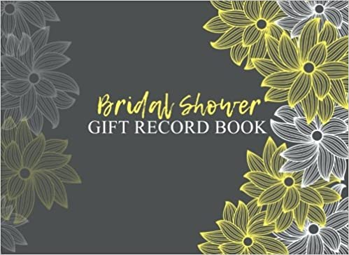 bridal shower gift record book gift log guest book dartan