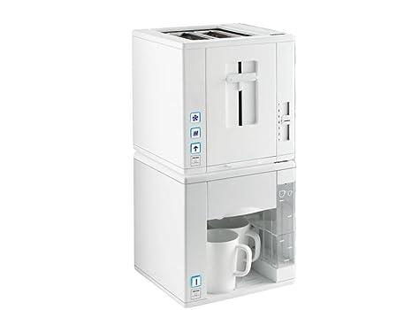 Petra Diseño Máquina de café y tostadora Compact4All todo en Juego, para desayuno, kmsta