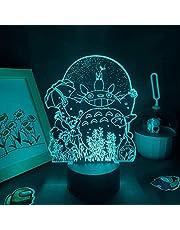 3D Nachtlampje Anime voor Kinderen, Anime Mine Ne&igh to-ro 3D Lampen LED Nachtverlichting RGB Kleurrijke voor Vrienden Slaapkamer Slaapzaal Tafel Bureau Decoratie voor Verjaardag/Xmas Gift