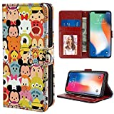 Character Disney Tsum Wallet Case Fit Apple iPhone 10, X, Xs [5.8']