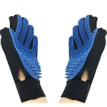 Pet Grooming Glove Brush-Pet Glove Massage Magic Hair Remover for Dogs & Cats with Long & Short Fur ( 2 Pack LEFT&RIGHT)