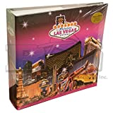 LAS VEGAS STRIP HOTELS PHOTO ALBUM WITH PINK SKYLINE & STARS