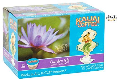Kauai Coffee Single-serve Pods, Garden Isle Medium Roast - 100% Premium Arabica Coffee from Hawaii's Largest Coffee Grower, Compatible with Keurig K-Cup Brewers - 72 Count (Arabica Premium Coffee 100)