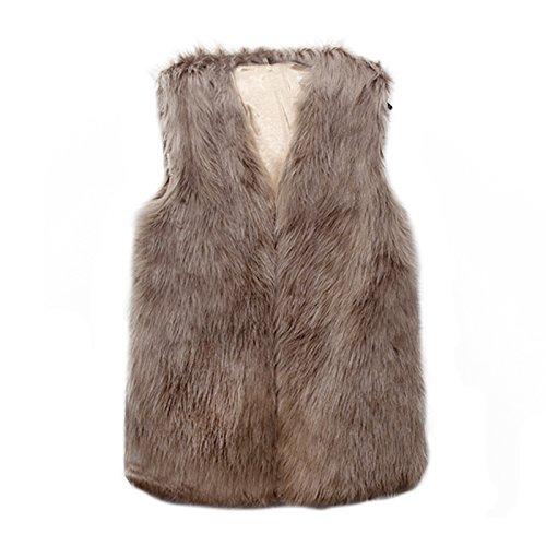 en Kaki Femmes Fourrure Vlunt de Veste d'hiver de Manteau des de Fausse Fourrure la Veste Manteau Parka Veste 6CqwCTg