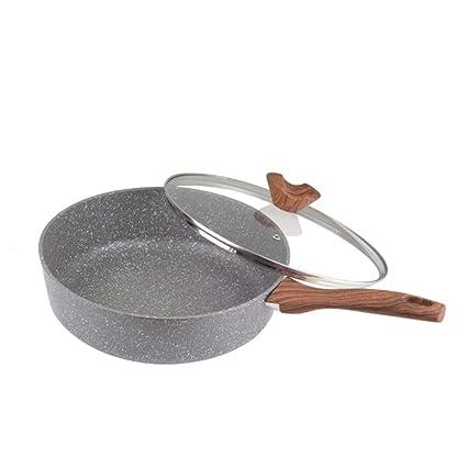 Cucsaist Sartén Antiadherente para Sartenes De Piedra Maifan Wok Sin Cocina De Inducción para Cocina De