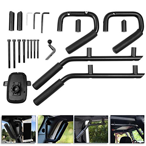 Autosaver88 Front And Rear Handle Grab Bar With Phone Gps