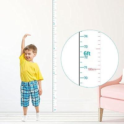 kolymax Height Chart for Kids Growth Chart Ruler Wall Decor For Measuring Kids Boys Girls, White