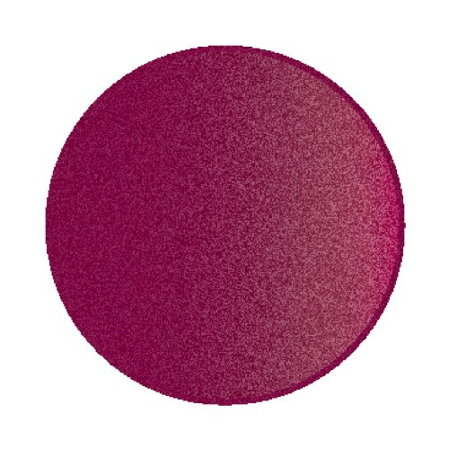 Learning Carpets Solid Cranberry Round Rug, Small/6'6