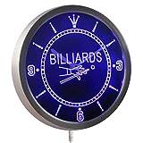 ADVPRO nc0299-b Billiards Pool Room Table Bar Neon Sign LED Wall Clock