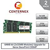 64MB kit (2x32MB Modules) RAM Memory for Xerox DocuPrint C55MP (60NS) (97K22330 ) Printer Memory Upgrade by US Seller