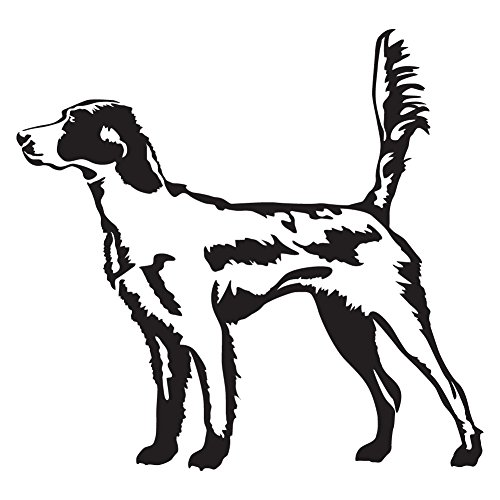 (English Setter in the Field (Black - Reverse Image - Small) Decal Sticker - Hunting Dog)