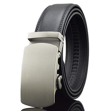 GOVVZ cinturón Hombres Moda Hebilla automática Cinturones de ...