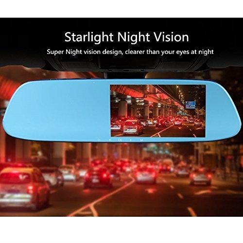 registrazione in loop 1080p Starlight Night Vision Dash Cam con Adas LDWS FHD Mirror Dual Drive Recorder cruscotto della macchina fotografica con G-Sensor