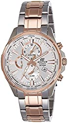 Casio Edifice Mens Analog Business Rose Gold Ion Plated Watch EFR-304SG-7A