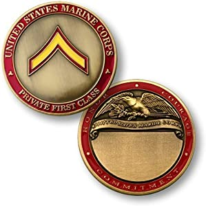 U.S. Marines Private First Class Engravable Challenge Coin