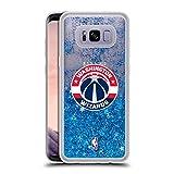 Official NBA Plain Washington Wizards 2 Blue Clear Hybrid Liquid Glitter for Samsung Galaxy S8+/S8 Plus
