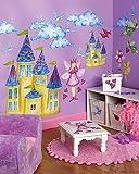 Fairy Princess Wallpaper Mural Castle Bedroom Border