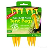 Coghlan's ABS Tent Pegs, 6-Inch, Pack of 6