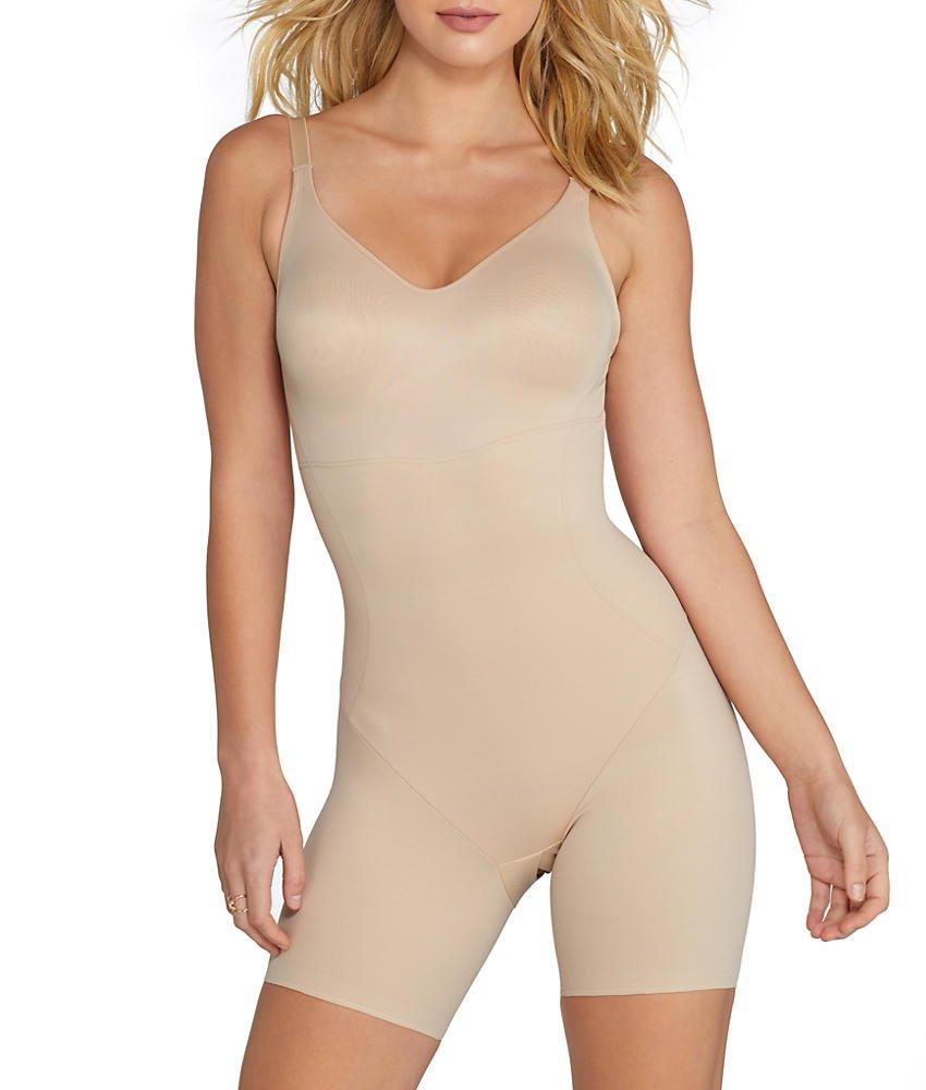 TC Fine Intimates Low Back Firm Control Bodysuit, 38DD, Nude