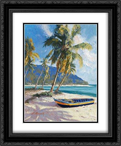 Island Dream 2X Matted 20x24 Black Ornate Framed Art Print by Mirkovich, ()