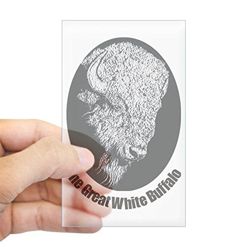 CafePress Great White Buffalo Sticker (Rectangle) Rectangle Bumper Sticker Car ()