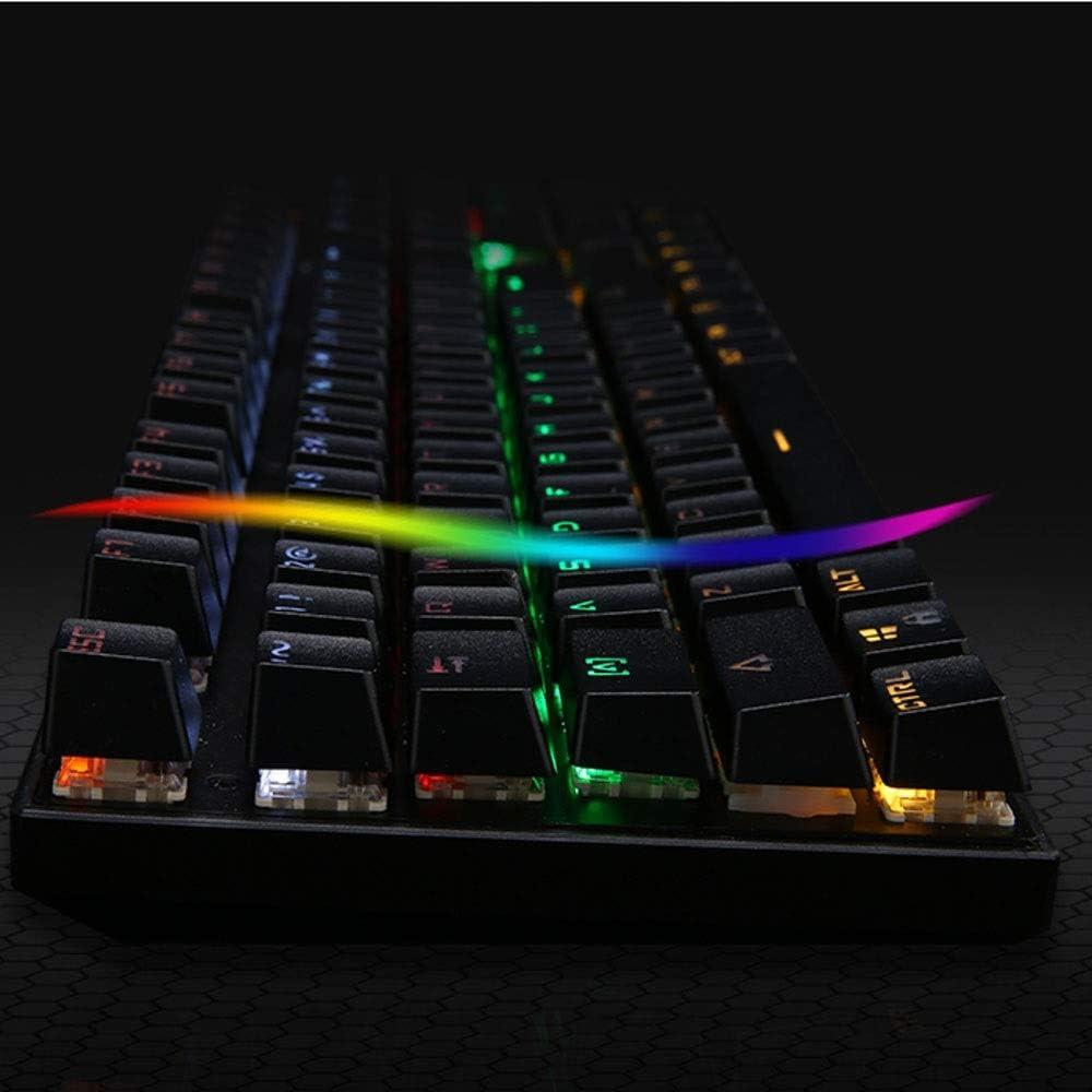 Size : L TONGZHENGTAI Green Axis Technical Keyboard Notebook Desktop Game Esport RGB Lambent Mechanical Keyboard High Speed