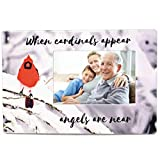 cardinal bird pictures - Memorial Cardinal Picture Frame - When Cardinals Appear Angels are Near Saying - Ceramic Keepsake Plaque - Bereavement Gift - Sympathy - in Loving Memory Display with Cardinal and Winter Scene