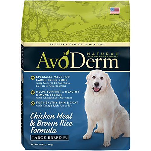 AvoDerm Natural Large Breed Chicken Meal & Brown Rice Formula  Dry Dog Food, 26-Pound