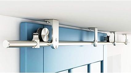 Herraje para Puerta Corredera Kit 150-300CM Montaje en techo ...