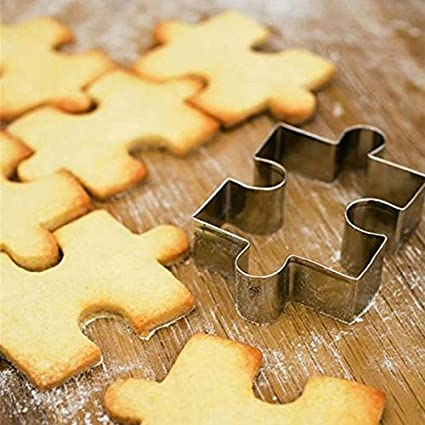 Stainless Steel Puzzle Cookie Cutter Fondant Cake Mold // Puzzle forma de acero inoxidable cortador