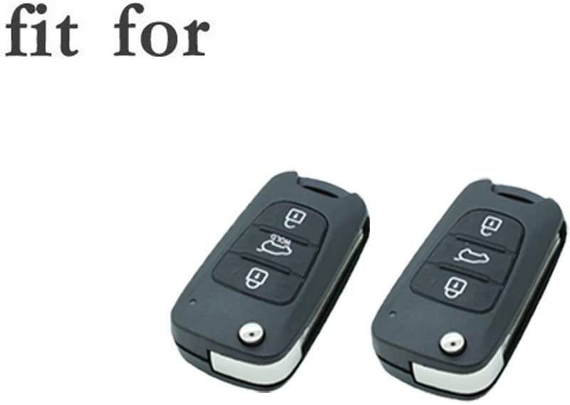 SEGADEN Silicone Cover Protector Case Skin Jacket fit for HYUNDAI KIA 3 Button Flip Remote Key Fob CV2152 Yellow
