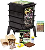 """The Squirm Firm Worm Factory 360 Worm Composting Bin + Bonus """"What Can"""