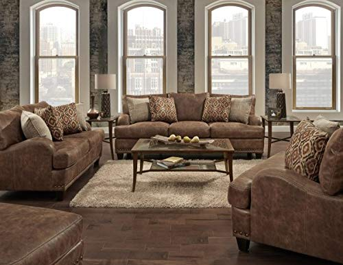 - Indira Franklin Sofa-Love seat-Chair-Ottoman-Modern Rustic-Western-Glam-Shabby-Contemporary
