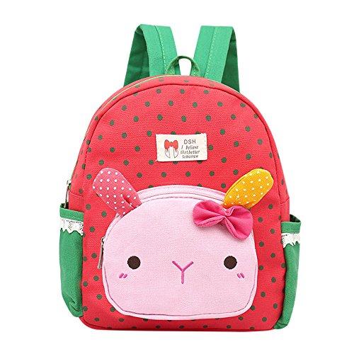 Children Baby Boys Kids Cartoon Rabbit Animal Backpack Toddler School Bag Cute Shoulder Bags Watermelon Red